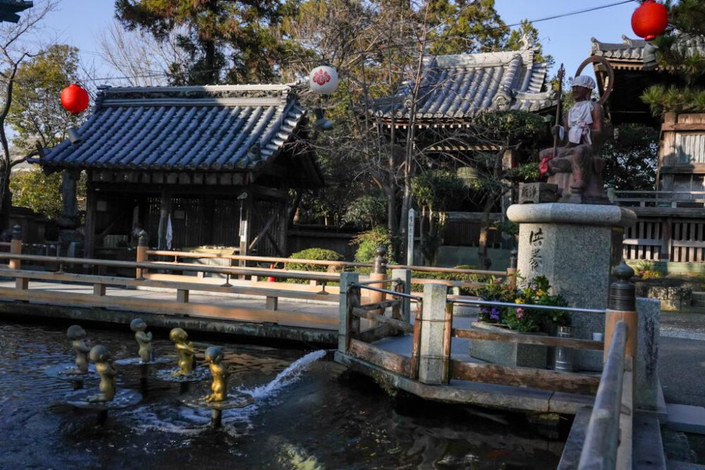 お遍路(四国霊場88ヶ所)第1番札所 霊山寺の池