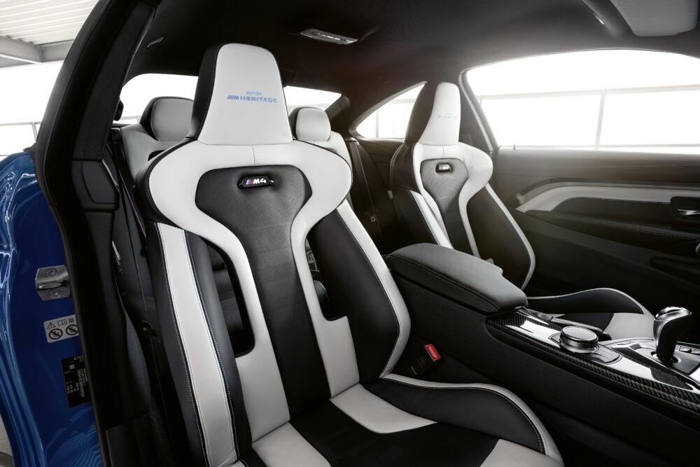 BMW M4 エディション・ヘリテージ 「ラグナ・セカ・ブルー」内装