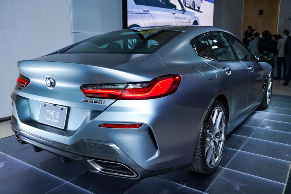 新型BMW 850i グラン クーペのリアからのデザイン