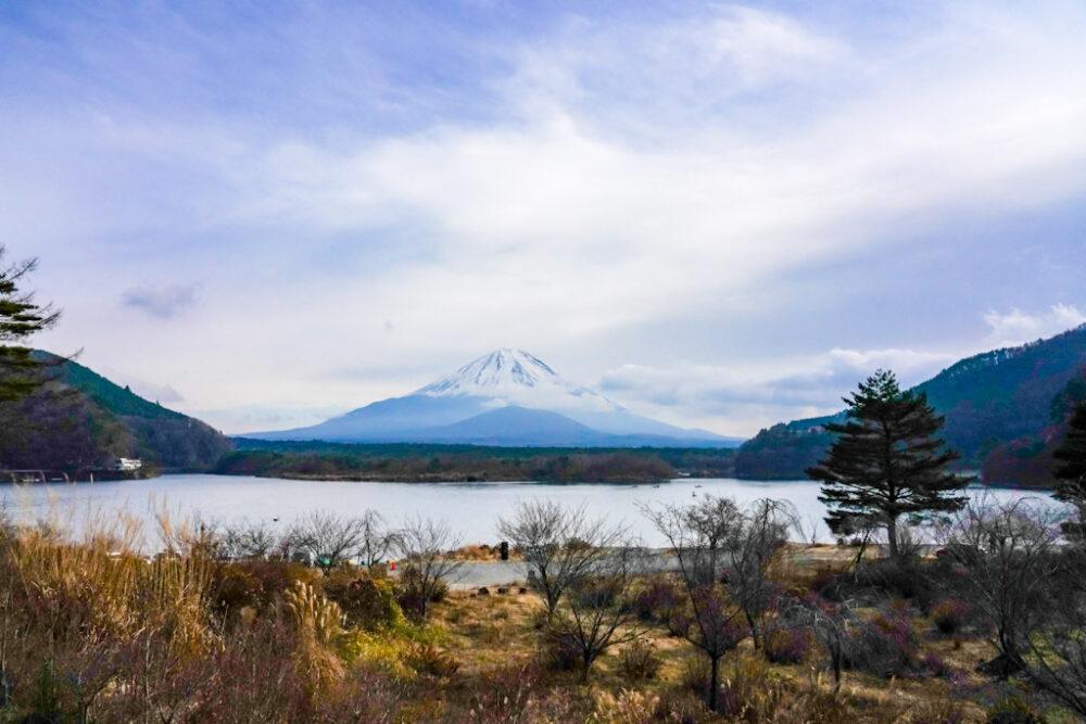 子抱き富士と精進湖