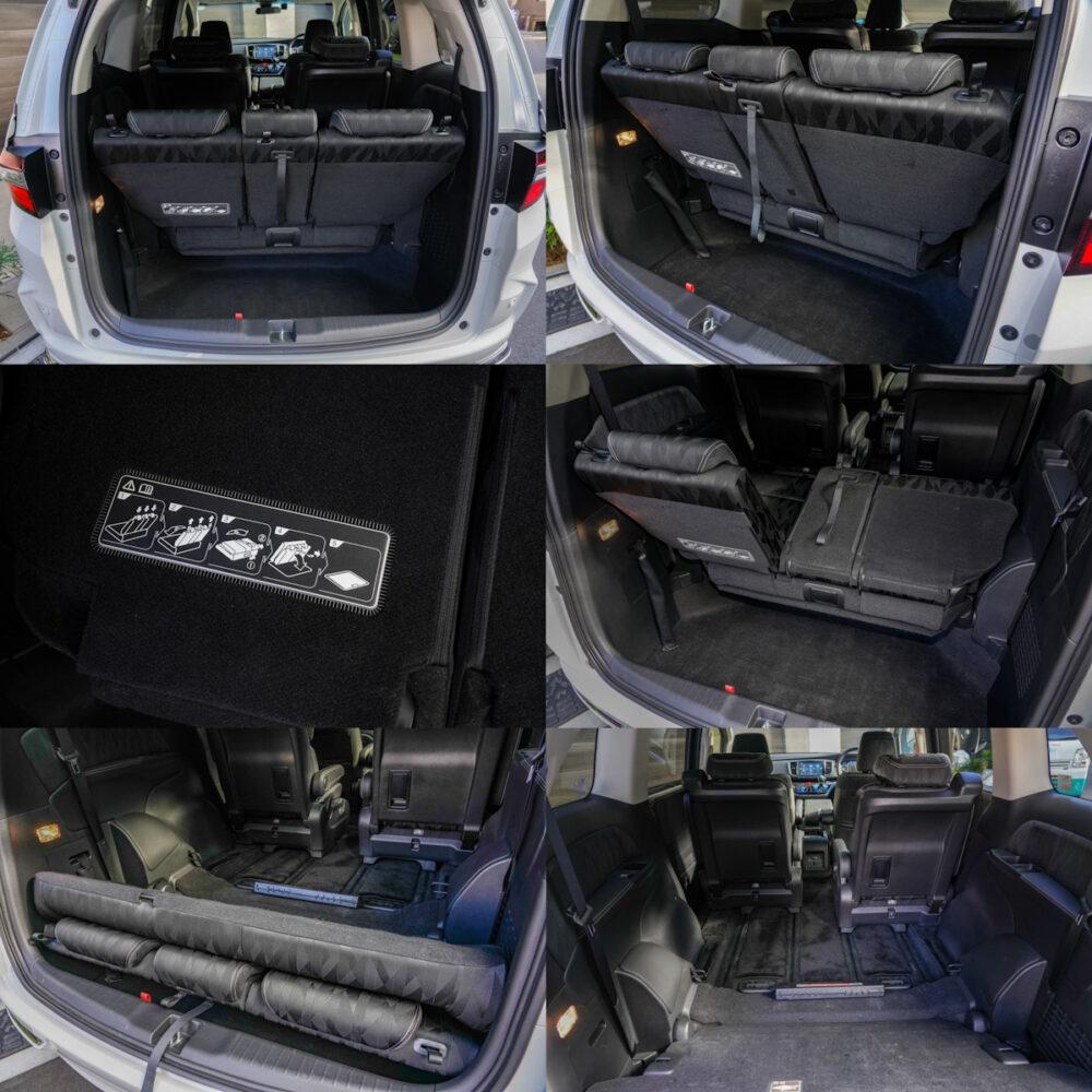 ホンダ オデッセイ ハイブリッド アブソリュート EX HondaSENSING のラゲッジスペース