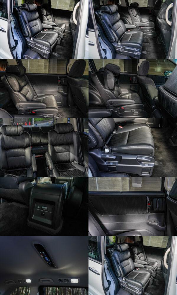 ホンダ オデッセイ ハイブリッド アブソリュート EX HondaSENSING の2列目シート