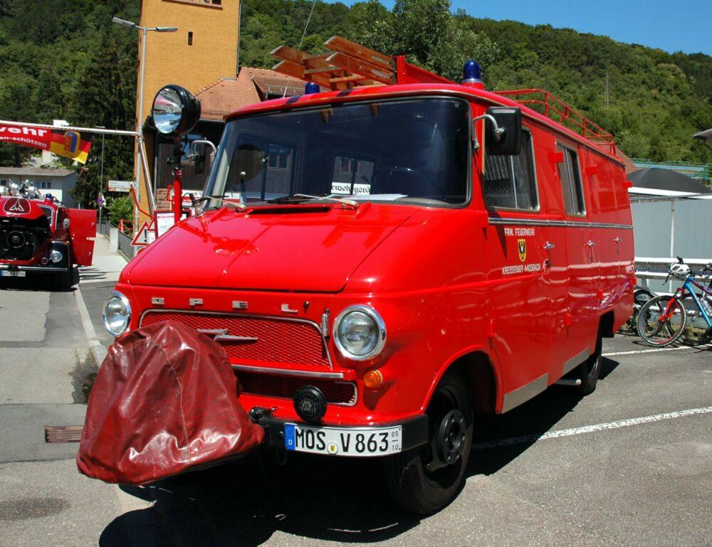 オペル ブリッツ 消防車仕様 フロント サイド