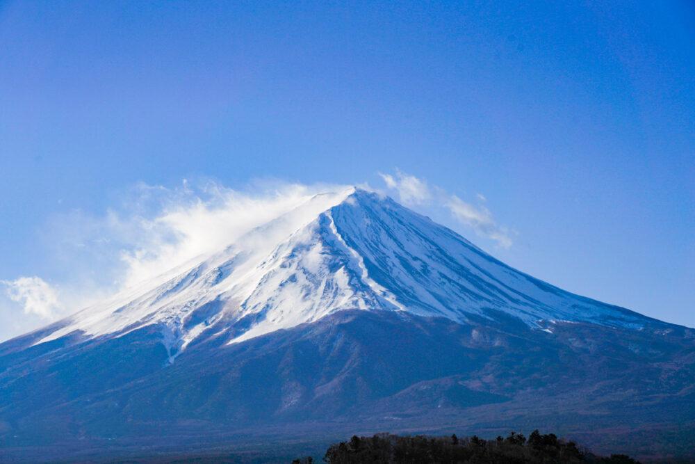 大石公園から富士山頂を望遠で撮影