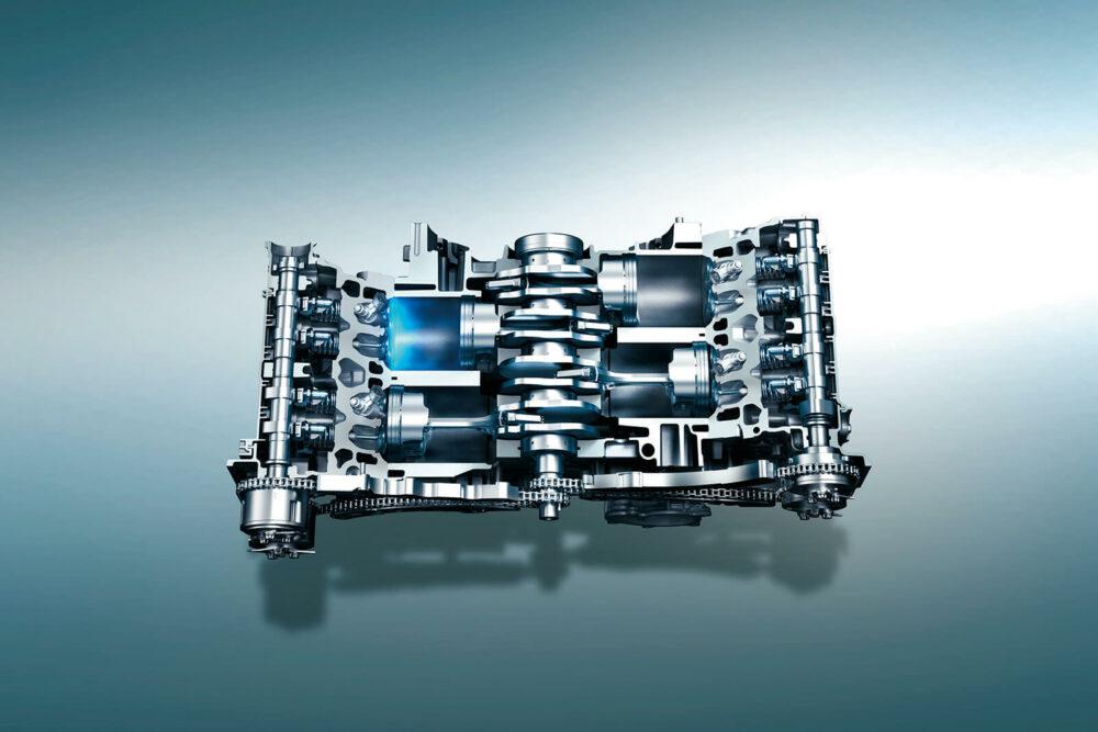水平対向エンジン イメージ