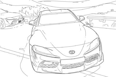 トヨタ GRスープラ、86などぬり絵素材をTwitterで提供