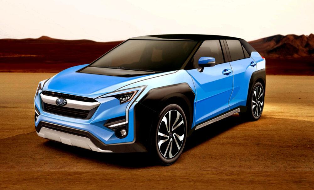 スバルとトヨタが共同開発中の新型EV・クロスオーバーSUVの予想CG