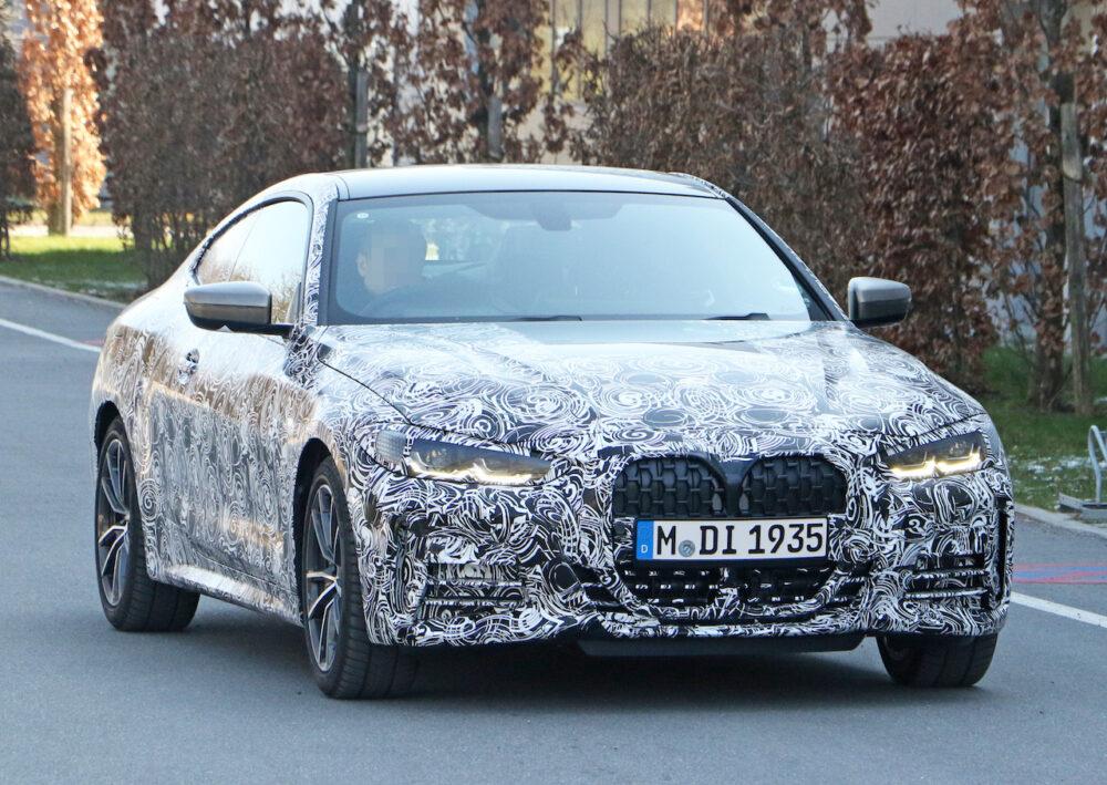 次期新型BMW 4シリーズ プロトタイプ フロント・サイド
