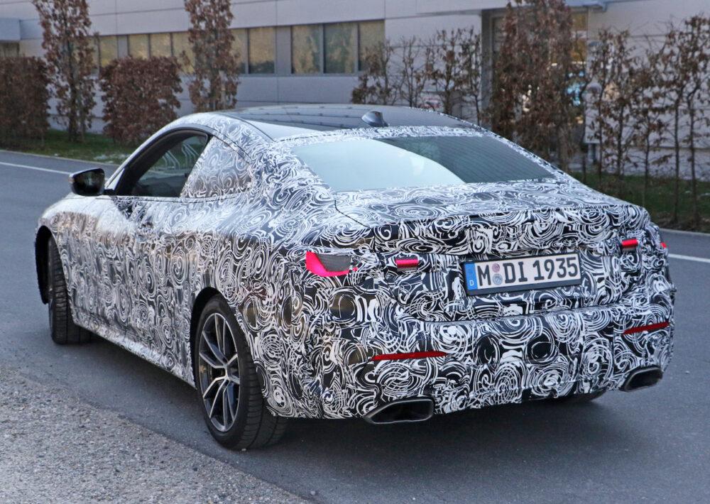 次期新型BMW 4シリーズ プロトタイプ リア