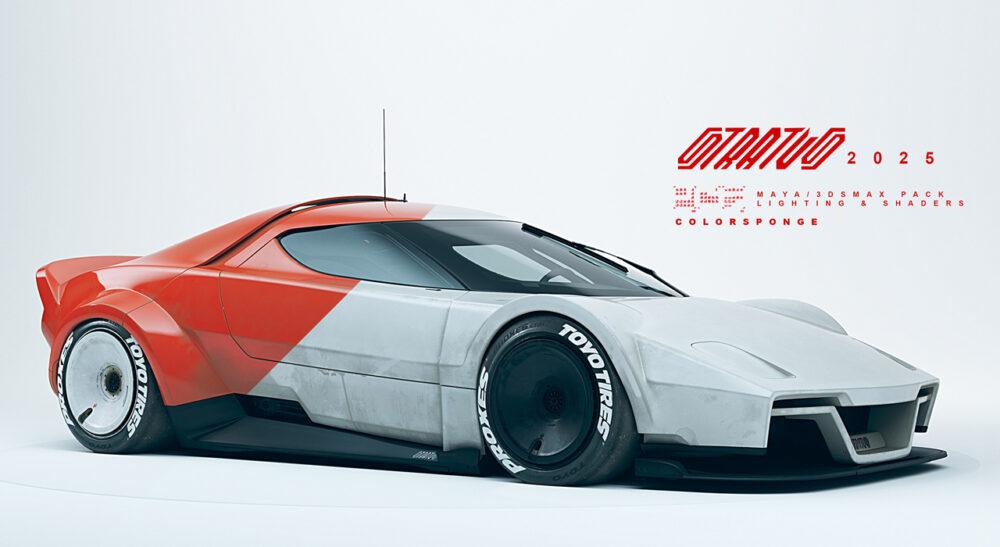 復活新型ランチア・ストラトス2025 予想CG フロント・サイド