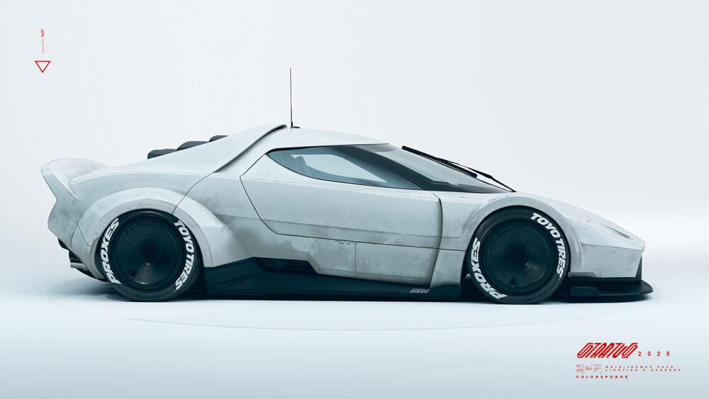 復活新型ランチア・ストラトス2025 予想CG ボディサイド