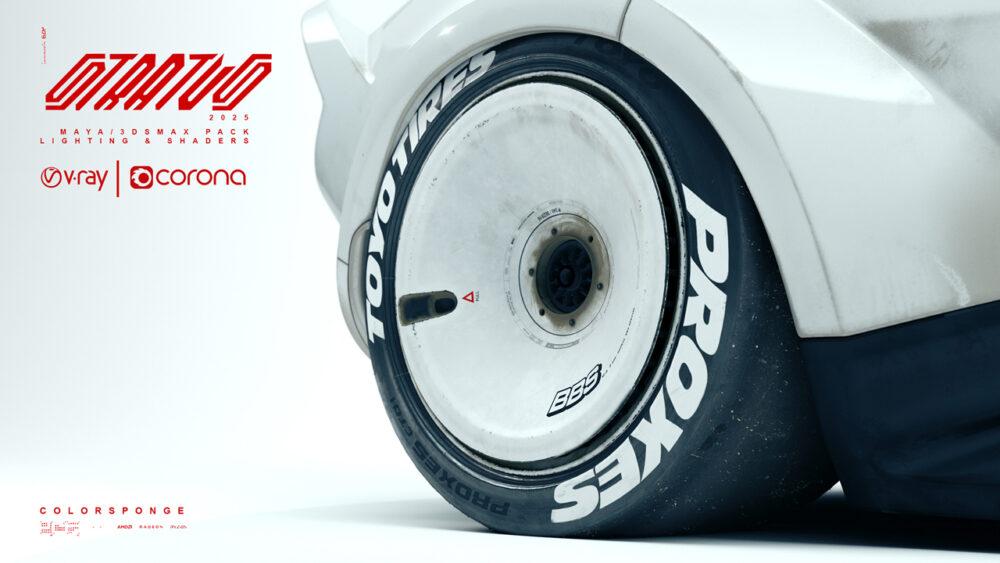 復活新型ランチア・ストラトス2025 予想CG タイヤ