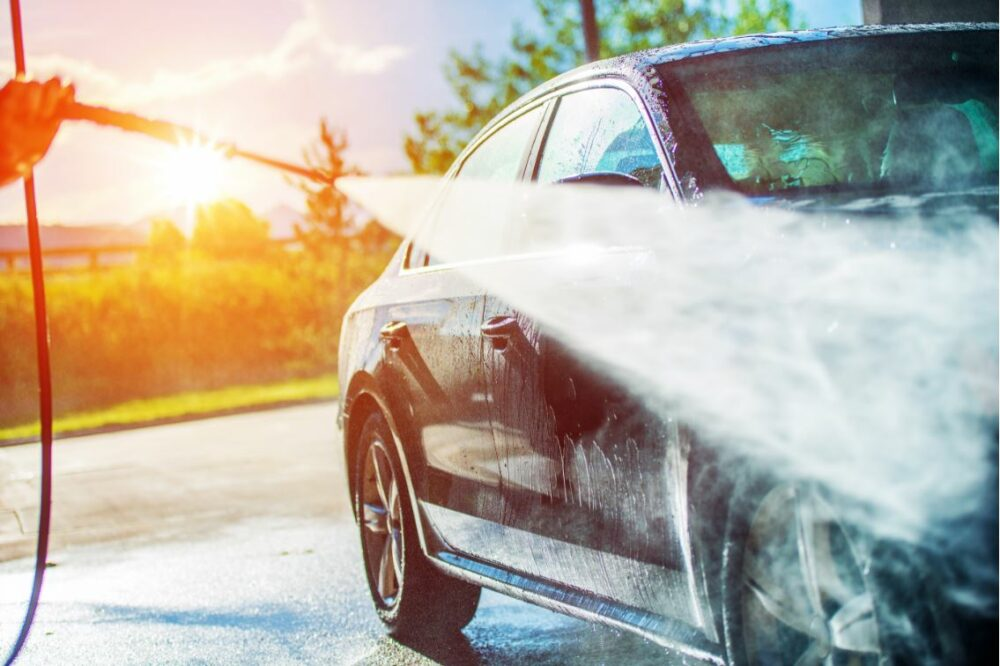 洗車 水洗い