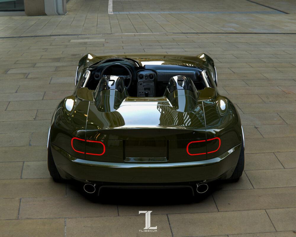 次期新型マツダ・ロードスター「NE型」スピードスター 予想CG リア