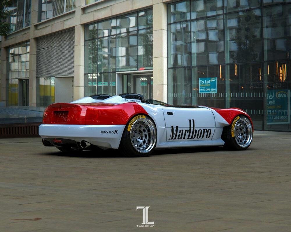 次期新型マツダ・ロードスター「NE型」スピードスター 予想CG サイド・リア
