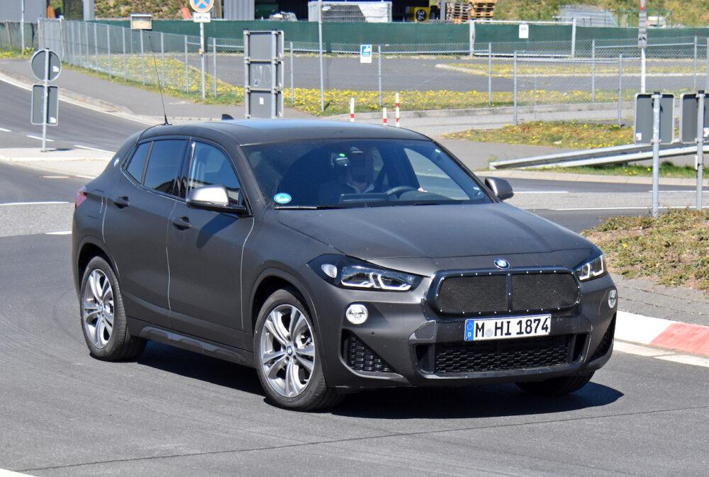 改良新型BMW X2 テスト車両 スパイショット フロント・サイド