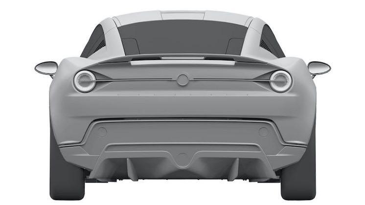 新型ヤマハ 2ドアクーペ EVの流出した特許画像 リア
