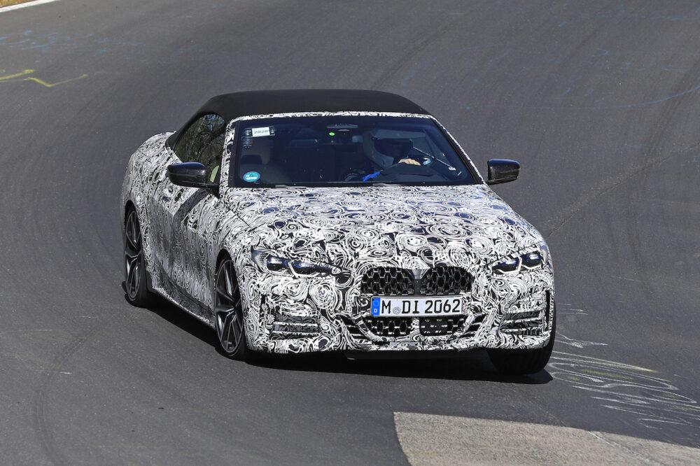 次期新型BMW 4シリーズ・カブリオレのスパイショット フロント