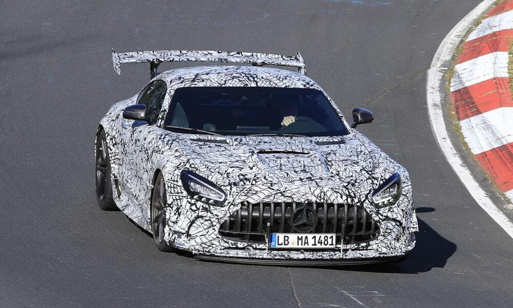 新型メルセデスAMG GT R ブラックシリーズ プロトタイプ スパイショット フロント