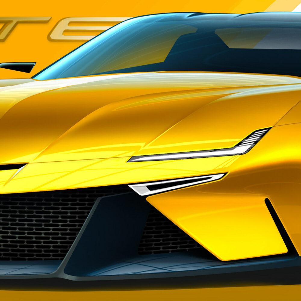 次期新型 C9 シボレー コルベット デザイン予想CG フロント拡大