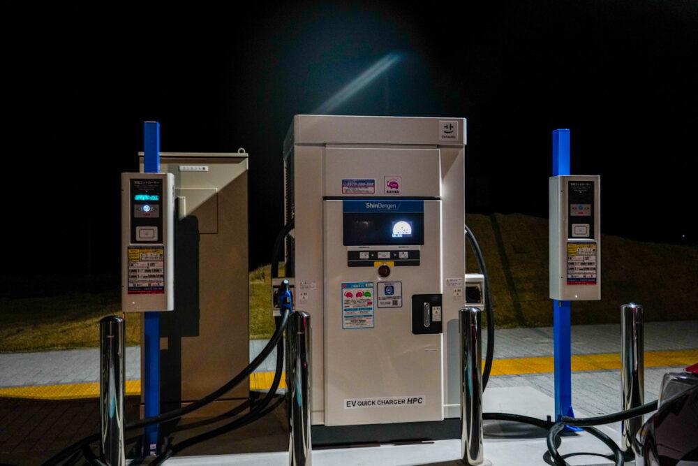 遠州森町PAの新電元工業製の充電器