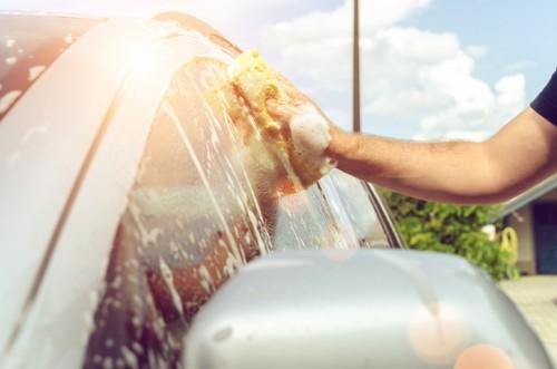 晴れの日の洗車