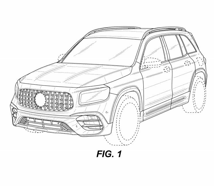 新型メルセデス・ベンツ GLB AMG45 流出した特許画像 フロント・ボディサイド