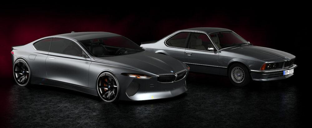 復活新型6シリーズクーペ デザイン予想CGとE24 6シリーズクーペのフロント