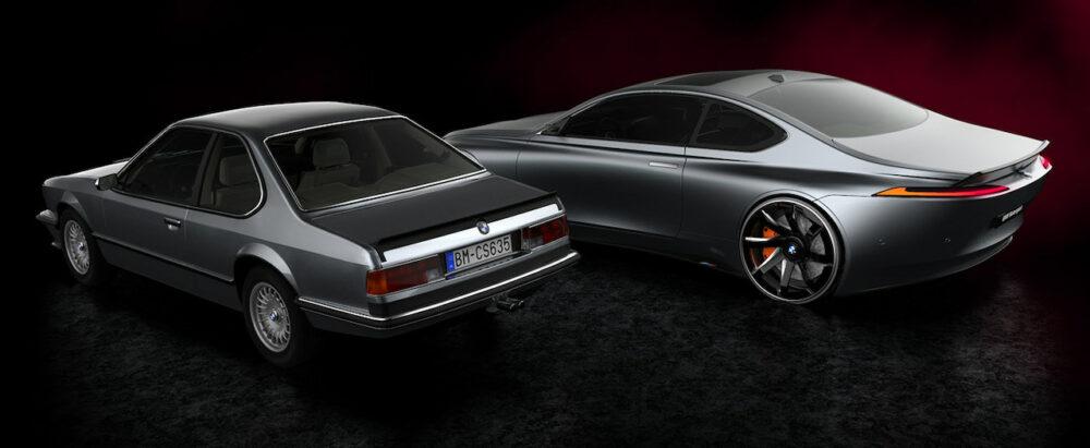 復活新型6シリーズクーペ デザイン予想CGとE24 6シリーズクーペのリア