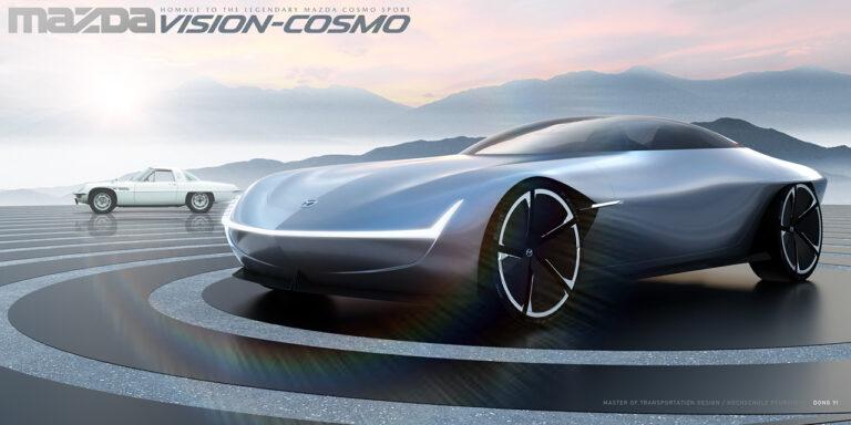マツダ新型コスモスポーツが水素ロータリーエンジンで復活?レンダリング画像も