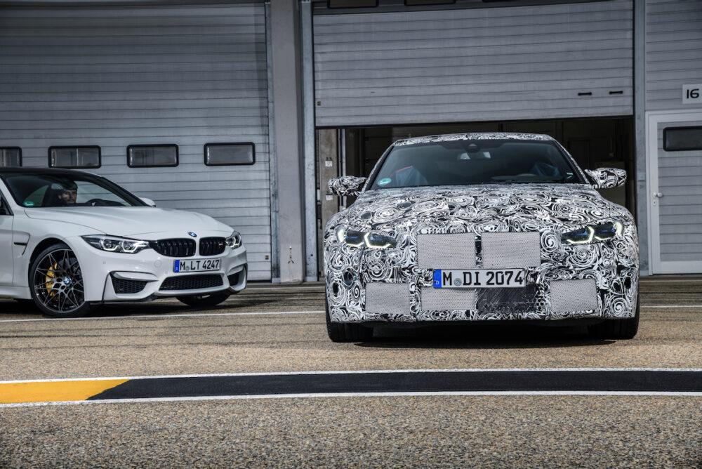 次期新型 BMW M4クーペ 公式リーク 画像左は現行モデル