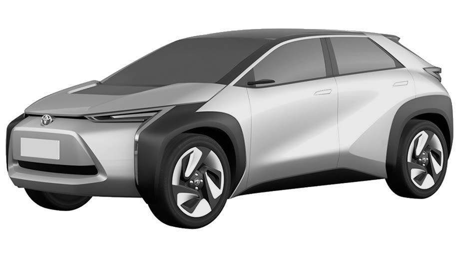 新型トヨタ EV・SUV 特許画像流出 フロント・ボディサイド