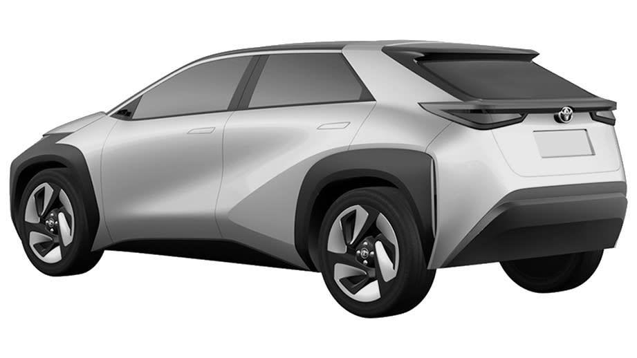 新型トヨタ EV・SUV 特許画像流出 ボディサイド・リア