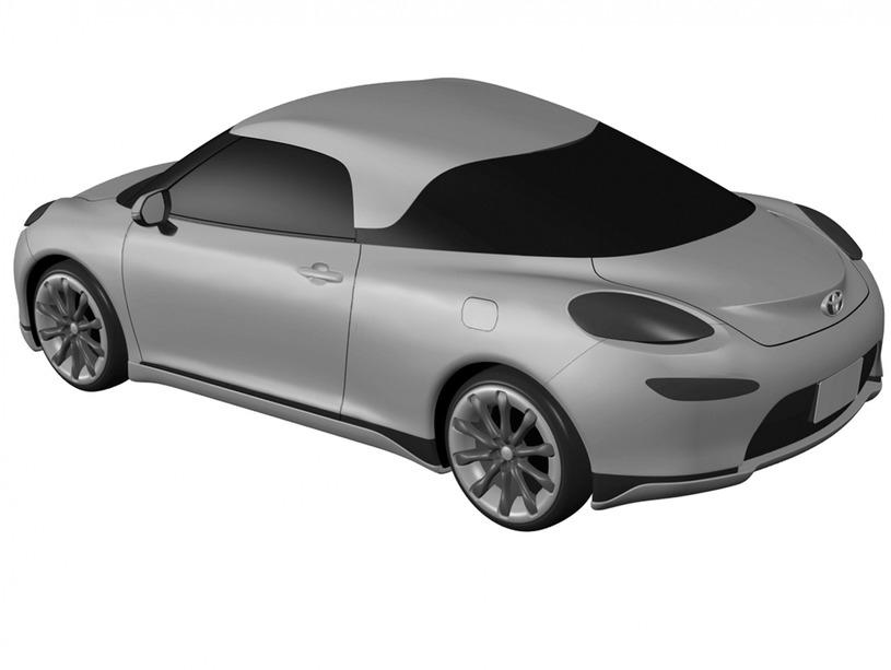 トヨタ MR2 デザイン特許画像流出 リアとボディサイド