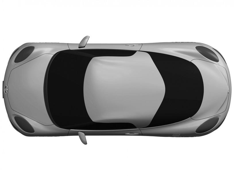 トヨタ MR2 デザイン特許画像流出 真上から俯瞰