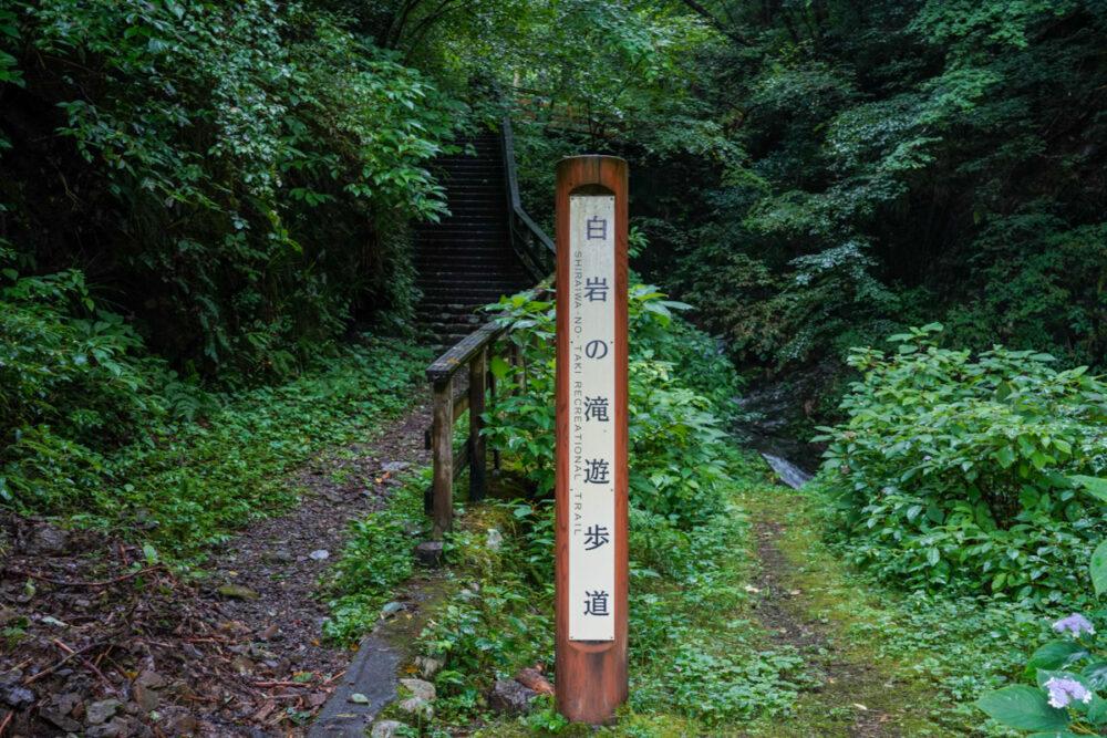 白岩滝遊歩道入口奥