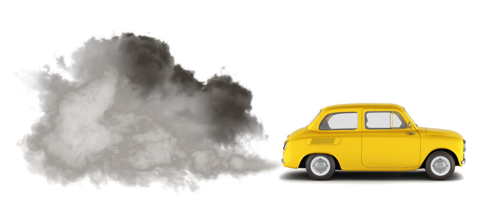 車から排出される排気ガス
