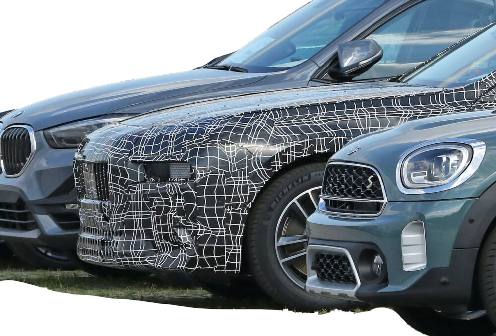 新型 BMW i7 市販型プロトタイプ スパイショット フロント