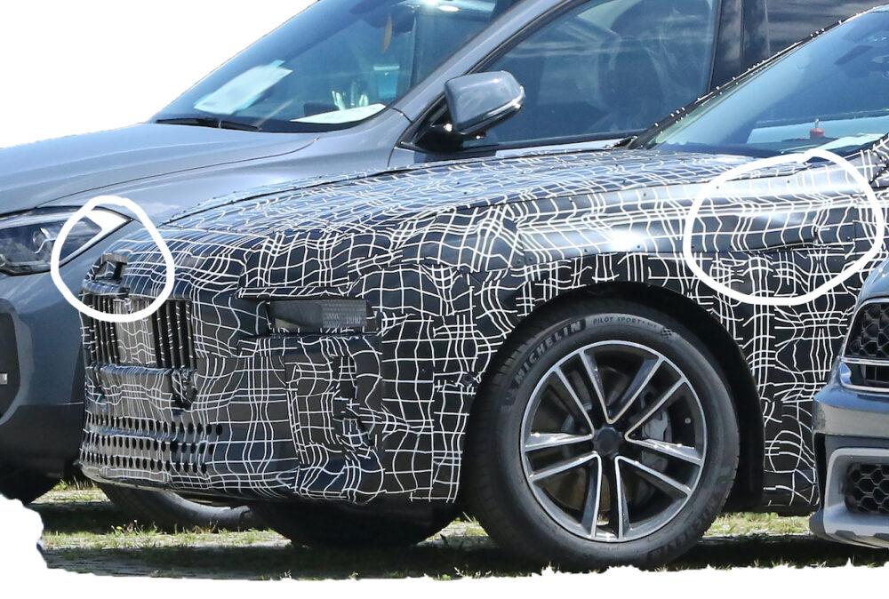 新型 BMW i7 市販型プロトタイプ スパイショット フロントサイド