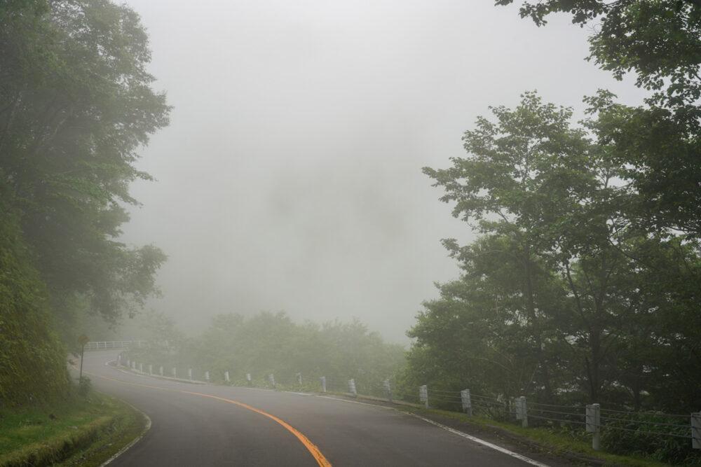 霧に包まれるビーナスライン