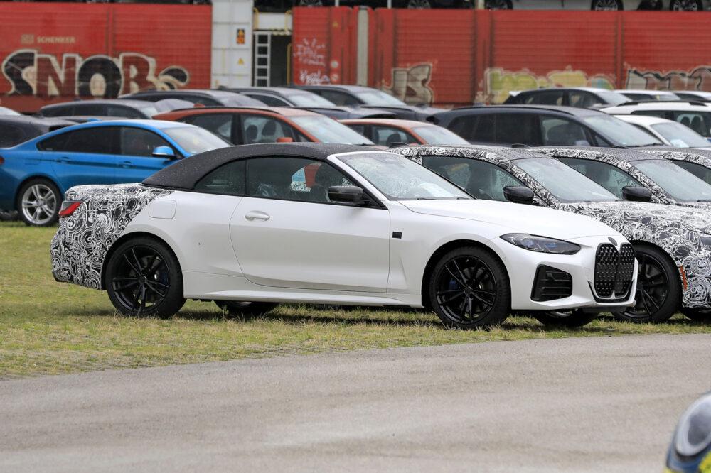 次期新型 BMW 4シリーズ カブリオレ プロトタイプ スパイショット フロントサイド