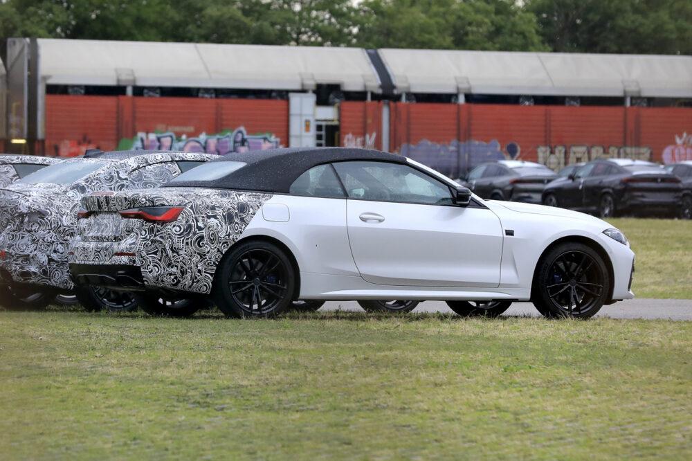 次期新型 BMW 4シリーズ カブリオレ プロトタイプ スパイショット リアサイド