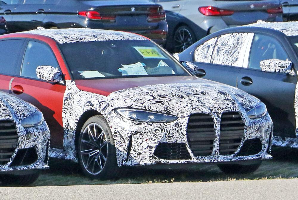 次期新型 BMW M3 プロトタイプ フロント