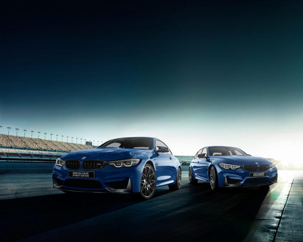 BMW  現行モデル 右が「M3」、左が「M4」