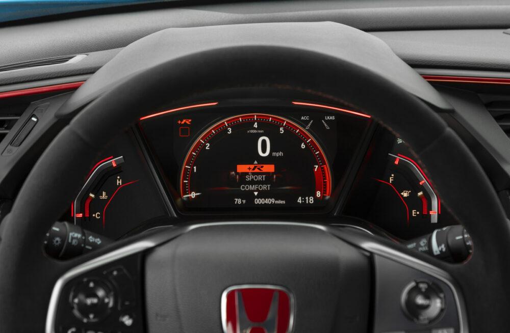 改良新型シビック タイプR 2020年モデル 北米仕様 メータークラスター