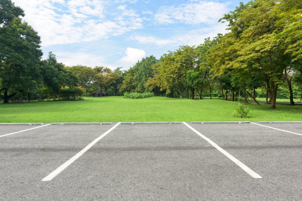 野川公園の駐車場