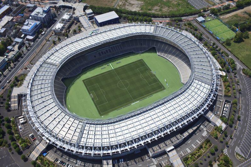 上空から見た東京スタジアム