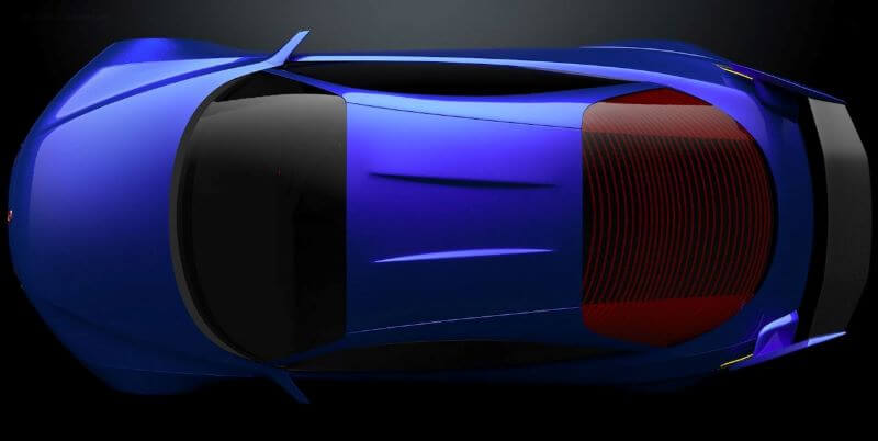 ホンダ インテグラ タイプR 復活新型予想デザインCG 真上から俯瞰