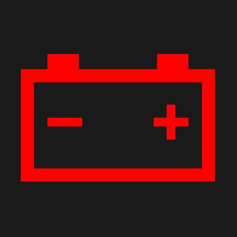 充電警告灯のマーク