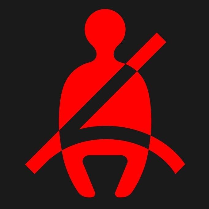シートベルト警告灯のマーク